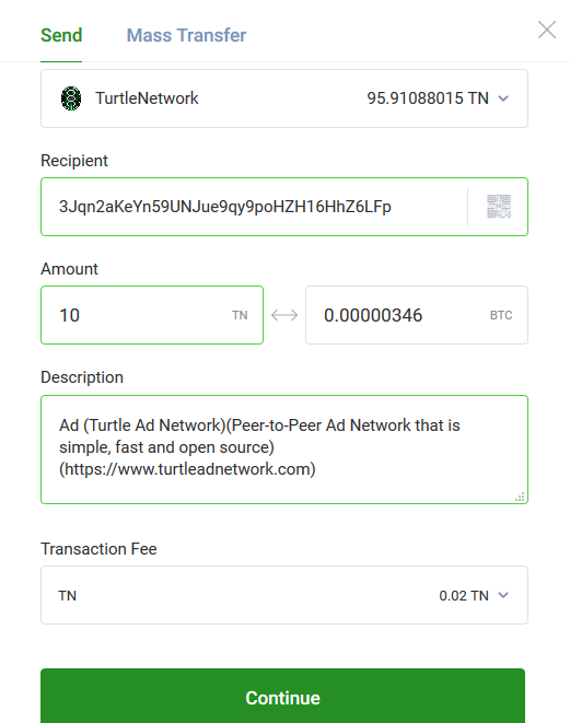 Turtle Ad Network SEND