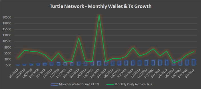 TurtleNetwork – Monthly Insights – August 2020